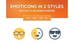 Simple Emoticons in 2 styles Product Image 1