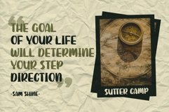 SUTTER CAMP - Adventure Typeface Product Image 5