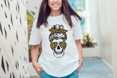 Skull mom life svg, messy bun, leopard, buffalo plaid Product Image 5