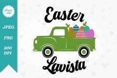 Easter Lavista, Easter Sublimation Designs, Easter Truck Product Image 1
