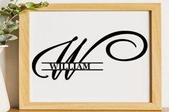 W Split monogram SVG Split letter svg Monogram font Product Image 5