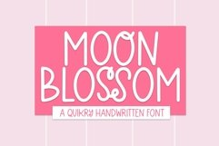 Web Font Moon Blossom - A Quirky Handwritten Font Product Image 1