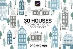 House Procreate stamp brushes and cliparts Product Image 1