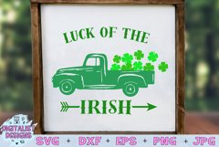 truck svg, clover svg, st patrick's day svg, luck, irish Product Image 1