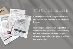 Workbook / Opt-in Lead Magnet Canva Template   Silver Product Image 2