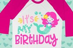 Birthday Mermaid Girl Shirt Svg , kids svg , Summer svg Product Image 1