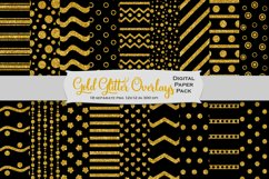 Gold Glitter Decorative Overlays Product Image 5