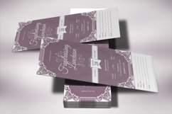 Vintage Luncheon Ticket Template Product Image 4