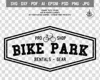 Vintage Outdoor Bike Tours Logo / Badge Templates SVG File Product Image 2