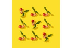 Little red apples pattern or postcard Product Image 2