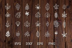 hand drawn doodle leaves svg cut files Product Image 3