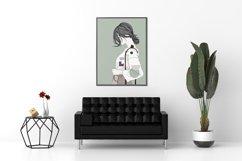 Art Print | Wall art Girl fashion,Minimalist Artwork Product Image 6