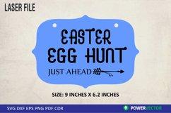 Easter Egg Hunt Sign Laser File Product Image 2