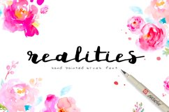Realities Brush Font Product Image 1