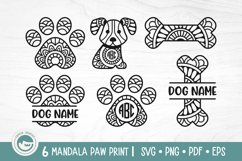 Paw Print Mandala SVG Cut Files Product Image 1
