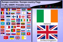 Europe countries / Europe country Flags / country flag / 300DPI / Vector flags / flag clipart and silhouette / printable flag/ digital flag Product Image 1