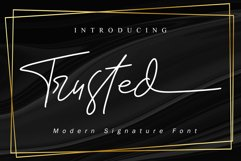 Trusted - Signature Font Product Image 1