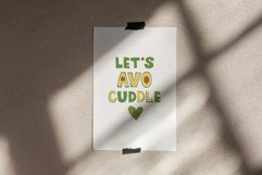 Avocados Quotes, Avocado Rainbow lettering, EPS, PNG Product Image 6