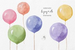 Watercolor balloons Product Image 2