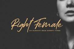 Right Female / Elegant Bold Script Product Image 1