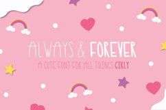 Always and Forever Font, Cute skinny tall font, girly font Product Image 1