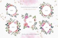 Blush pink floral Frame Frames Borders PNG Rose Gold Clipart Product Image 2