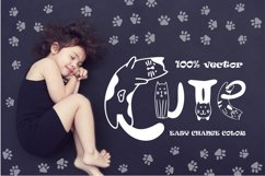 Cats cute OTF color font Product Image 5