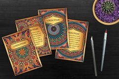 Mandala ethnic cards vector templates set. Product Image 5