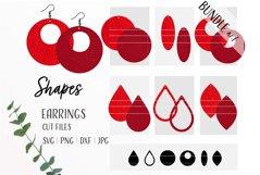 Basic Shapes Earrings Bundle Svg / Leather / Faux / Wood Product Image 1