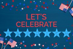 Bright Stars - A Hand-Drawn 4th of July Monogram Font Product Image 3