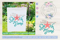 This House Runs On Beach Time SVG DXF LL034B2 Product Image 1