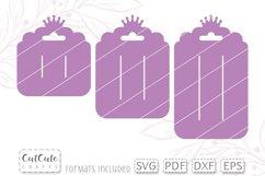 Snap Clip Display Card SVG Template Set Princess Crown Product Image 2