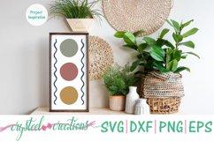 Triple Circle Boho SVG, DXF, PNG, EPS Product Image 2