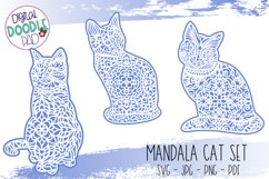 Mandala Cat SVG Set For Cricut & Silhouette Product Image 1
