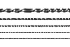 Twisted Iron Wire Seamless Pattern Set Vector Product Image 1