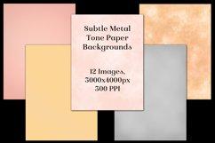 Subtle Metal Tone Paper Backgrounds - 12 Image Textures Set Product Image 2