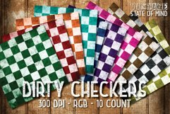 Dirty Checkers Digital Papers Product Image 2