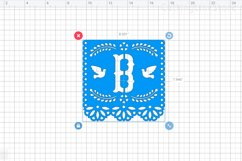 Mi bautizo banner in papel picado style, Svg file for cricut Product Image 3