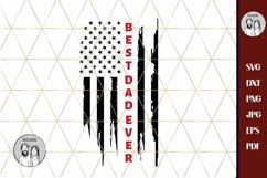 firefighter dad svg, Thin RED line Best dad ever USA flag Product Image 2