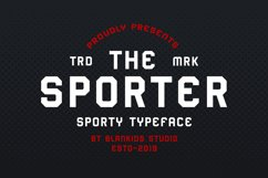 Sporter - Sporty Display Typeface Product Image 1