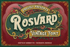 Rosvard - Vintage Layered Typeface Product Image 1