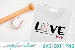 Love Baseball SVG, DXF, PNG Product Image 1