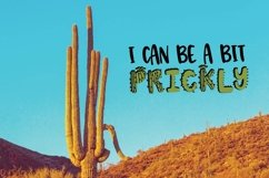 Web Font Thirsty Cactus - A Silly Cacti Font Product Image 5