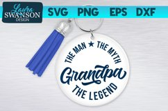 Grandpa The Man The Myth The Legend SVG | Father's Day SVG Product Image 1