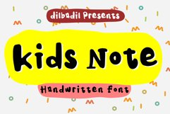 Kids Note - A Cute Display Font Product Image 1