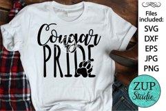 Cougar Pride SVG Digital Design Cutting files 414 Product Image 1
