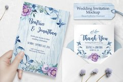 Wedding invitation - BeachyBoho Product Image 1