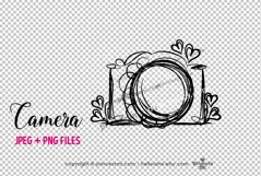 camera clipart - with little hearts Product Image 2