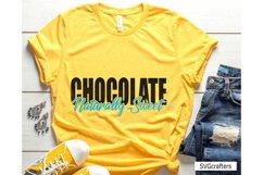 Chocolate Naturally Sweet SVG, melanin svg, black woman svg Product Image 1