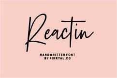 Reactin // handwritten font Product Image 1